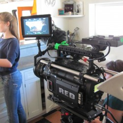 the RED camera in action